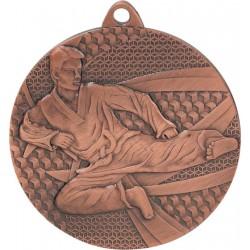 Medal stalowy brązowy karate MMC6650/B