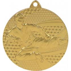 Medal stalowy złoty karate MMC6650/G