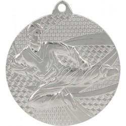 Medal stalowy srebrny karate MMC6650/S