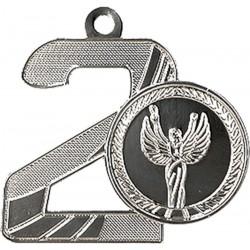 Medal Srebrny Drugie Miejsce Z Miejscem Na Emblemat 25 Mm - Medal Stalowy