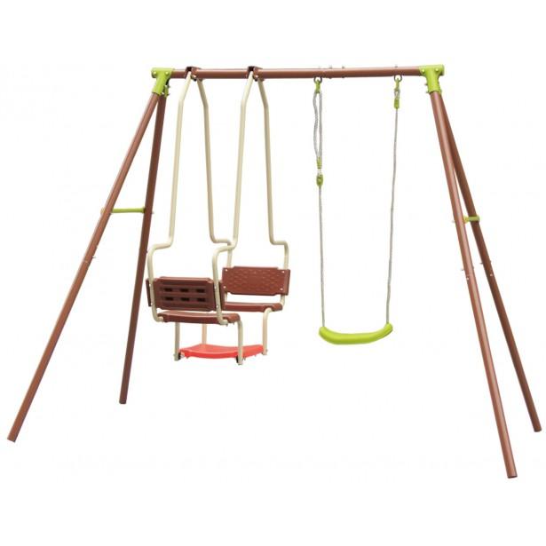 Huśtawka ogrodowa 3 osobowa plac zabaw dla dzieci
