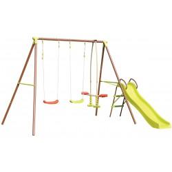 Huśtawka ogrodowa 4 osobowa i zjeżdżalnia plac zabaw dla dzieci