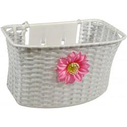Koszyk Na Rower Dzięciecy Biały Z Kwiatkiem