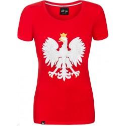 Koszulka Patriotyczna Czerwona Godło Polski Surge Polonia R.M