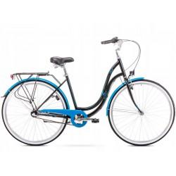 "Rower Romet Angel 28"" 3 Czarno-Niebieski 19 L 1928200"