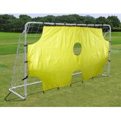 Bramka do piłki nożnej Enero z siatką i tarczą strzelecką 290x165x90cm