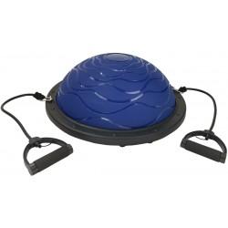 Bosu Trener Równowagi Blue 59,5Cm Z Linkami i Pompką Eb Fit