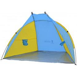 Namiot Osłona Plażowa Sun 200X120X120Cm Niebiesko-Żółty Royokamp