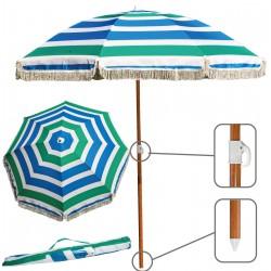 Parasol Plażowy Ogrodowy Royokamp Śr. 180cm Poliester
