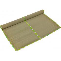 Mata plażowa słomiana z kieszonką składana 70x180cm kropki zielone