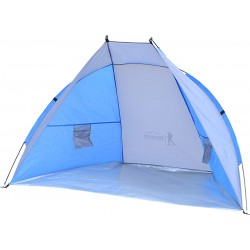 Namiot Osłona Plażowa Sun 200X100X105Cm Szaro-Niebieska Royokamp