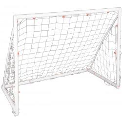 Bramka do piłki nożnej Enero z siatką 244x122x106cm PVC fi50
