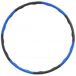Hula hop z masażem neoprenowy 95cm Eb fit niebiesko-szary