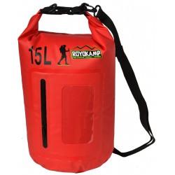 Wodoszczelna torba 15l z dodatkowym Etui na telefon Czerwona