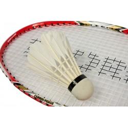 Lotka badminton z piór 3szt biała