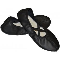 Baletki dla dzieci do tańca czarne z gumką R.35