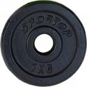 Obciążenie żeliwne czarne 1 kg Sportop fi26,5