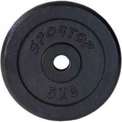Obciążenie Żeliwne Czarne 5 Kg Eb Sportop Fi28