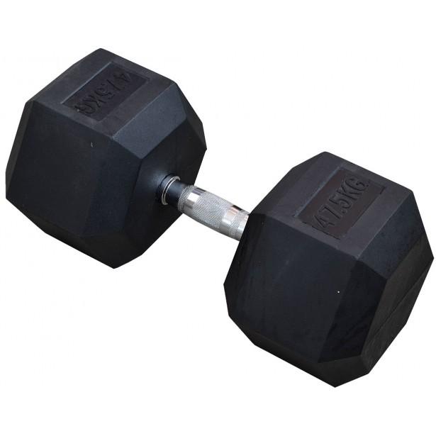 Hantla gumowa Hex 47,5 kg eb fit