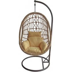 Huśtawka fotel bujany kokon Idea Cappuccino