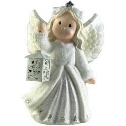Anioł dekoracyjny z lampionem Led