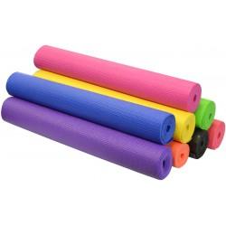 Mata do ćwiczeń fitness jogi 170x60x0,3cm żółta Eb fit