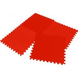 Mata puzzle piankowe Eva 60x60x1,2cm kpl. 4szt Enero czerwona