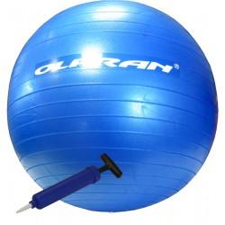 Piłka Gimnastyczna Anti-Burst OLPRAN do Ćwiczeń Fitness 55cm z pompką