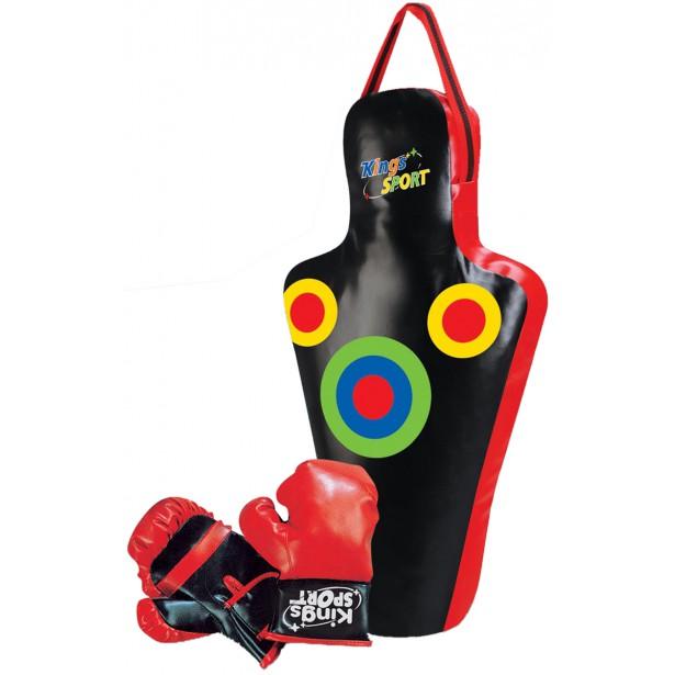 Zestaw bokserski junior Enero manekin 59,5x17x34,5cm i rękawice