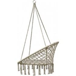 Hamak bocianie gniazdo fotel wiszący 80x60cm ecru