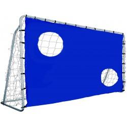 Bramka do piłki nożnej Enero z siatką i tarczą strzelecką 300x205x120cm