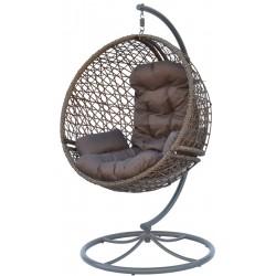Huśtawka fotel wiszący kokon obrotowy Look 360 Mocca brązowy