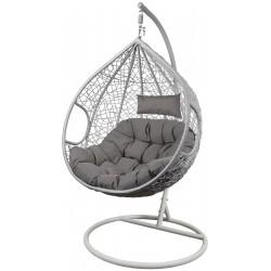 Fotel bujany Cocoon roz.xxl z technoratanu szary biały