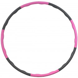 Hula hop z masażem neoprenowy 95cm Eb fit różowo-szary