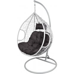 Kokon fotel wiszący r.XL ciemny szary biały biały