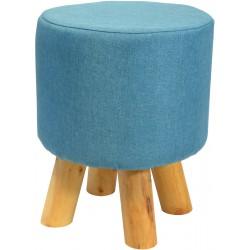 Pufa krzesełko taboret niebieski 28x28cm