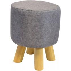 Pufa krzesełko taboret szary 28x28cm