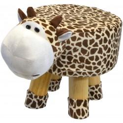 Pufa krzesełko taboret żyrafa 28x28cm