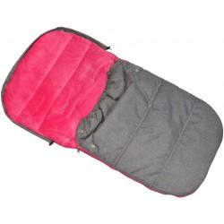 Śpiworek zimowy dla dzieci 90x45cm Polar fuksja/melanż