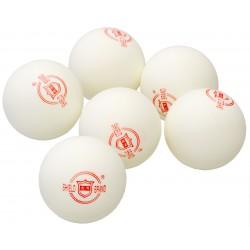 Piłeczka Tenis Stołowy Shield 6 Szt Biała