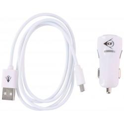 Ładowarka Samochodowa 2 USB i Kabel Typ Micro USB DUNLOP