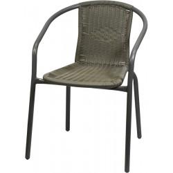 Krzesło ratanowe ogrodowe szare