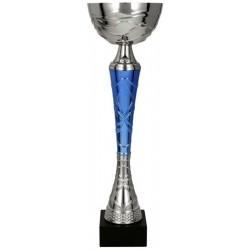 Puchar metalowy srebrno-niebieski TUMAS BL 9218E