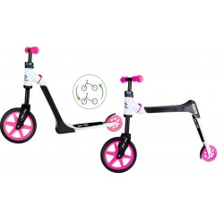 Hulajnoga Rowerek Biegowy 2W1 Kido Różowa