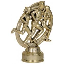 Figurka plastikowa złota - bieganie