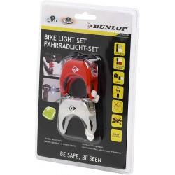 Zestaw Silikonowych Lamp Rowerowych LED Przód Tył DUNLOP DELUXE