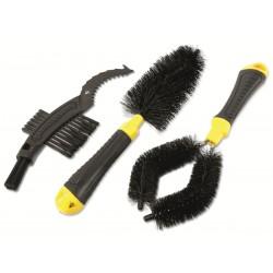 Zestaw szczotek do czyszczenia roweru Dunlop