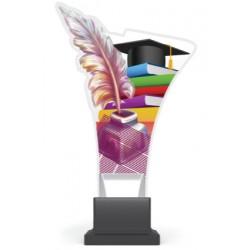 Trofeum z plexy na podwyższeniu - SZKOLNICTWO CP02/SCH