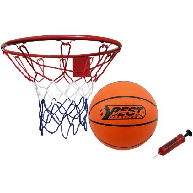 Obręcz do kosza 45cm z piłką i pompką Best Sporting