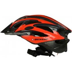 Kask rowerowy regulowany Dunlop Led czerwony R.L